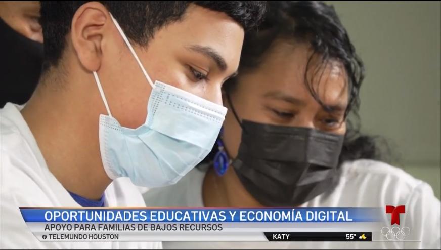 TELEMUNDO: 100 familias reciben apoyo tecnológico de Comcast y Telemundo